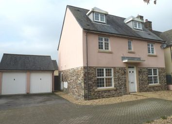 Thumbnail 4 bed detached house to rent in Cotehele Close, Callington, Cornwall