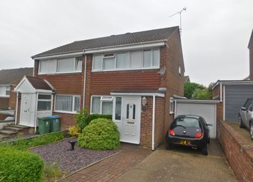 Thumbnail 3 bed semi-detached house for sale in Weyhill Close, Portchester, Fareham