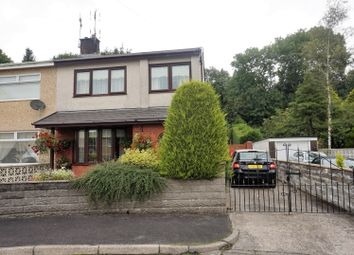 Thumbnail 3 bed semi-detached house for sale in Duffryn Close, Porth