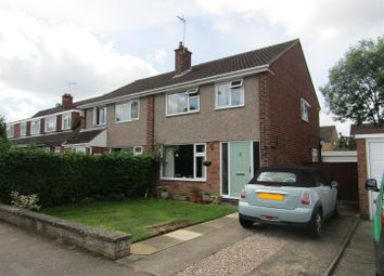 Thumbnail 3 bed semi-detached house for sale in Southey Close, Enderby, Leicester