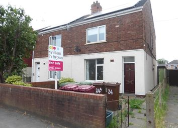 Thumbnail 1 bed semi-detached house for sale in North Parade, Scunthorpe