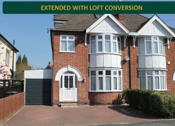 Thumbnail 3 bed semi-detached house for sale in Kenwood Road, Knighton, Leicester