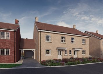 Thumbnail 3 bed semi-detached house for sale in Plot 12, 'the Chancellors', Bedford Road, Moggerhanger