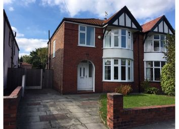Thumbnail 3 bed semi-detached house for sale in Parrs Wood Road, Didsbury