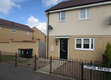 Thumbnail 3 bed end terrace house for sale in Lotus Mews, Dunstable, Bedfordshire