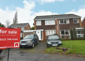 Thumbnail 3 bed semi-detached house for sale in Coppice Close, Shirley, Solihull