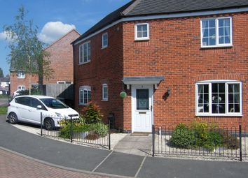 Thumbnail 3 bedroom semi-detached house to rent in Harvey Close, Barwell, Leicestershire
