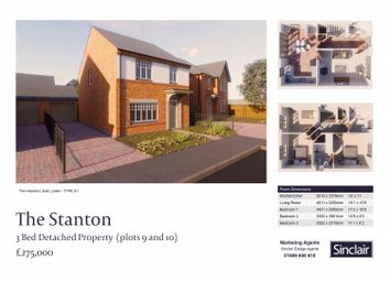 Thumbnail 3 bedroom detached house for sale in The Heavens - Porrit Close, East Leake, Leicestershire