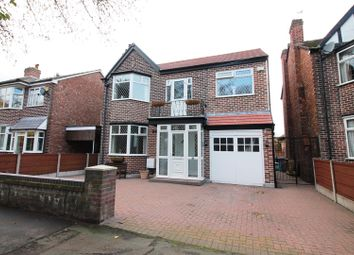 Thumbnail 4 bed detached house for sale in Gleneagles Road, Urmston, Manchester