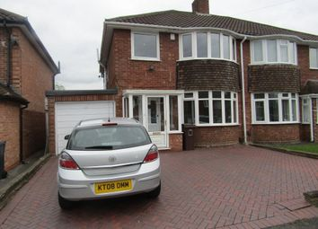 Thumbnail 3 bedroom property to rent in Rowlands Crescent, Solihull
