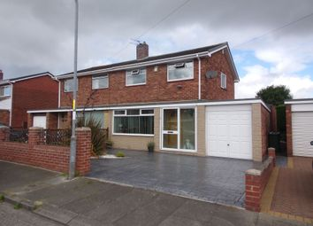 Thumbnail 3 bed semi-detached house for sale in Beverley Drive, Choppington