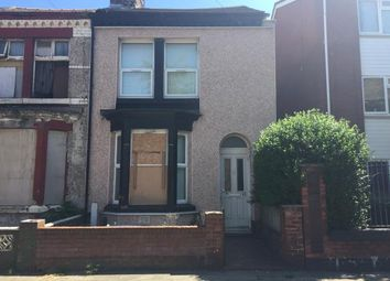 Thumbnail 2 bedroom terraced house for sale in 52 Wordsworth Street, Bootle, Merseyside