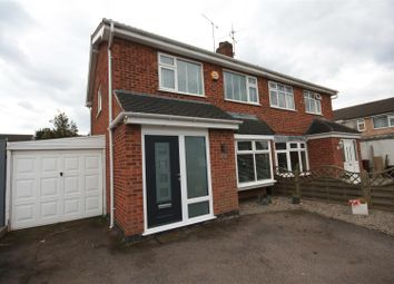 Thumbnail 3 bed semi-detached house for sale in Long Furrow, East Goscote, Leicester