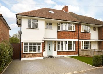 Thumbnail 4 bed semi-detached house for sale in Denleigh Gardens, Thames Ditton, Surrey