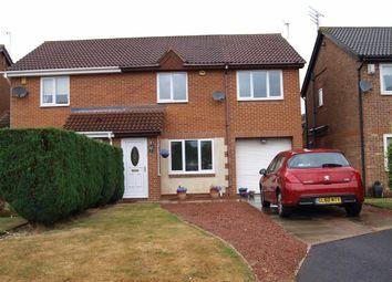 Thumbnail 4 bed semi-detached house for sale in Bondene Way, Cramlington