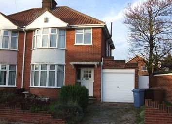 Thumbnail 3 bedroom semi-detached house to rent in Kelvin Road, Ipswich