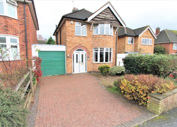 Thumbnail 3 bed detached house for sale in Bourton Crescent, Oadby, Leicester