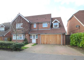Thumbnail 5 bedroom detached house for sale in Deardon Way, Shinfield, Reading