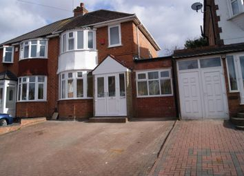Thumbnail 3 bed semi-detached house to rent in Valley Road, Solihull