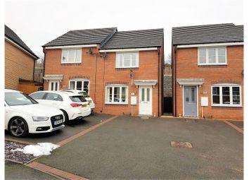 Thumbnail 2 bed semi-detached house for sale in Lamphouse Way, Wulfstan Grange Wolstanton Newcastle