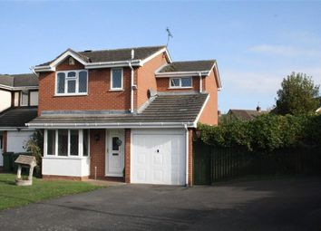 Thumbnail 3 bed detached house for sale in Wheatfield Close, Glenfield, Leicester