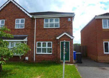 Thumbnail 2 bed semi-detached house to rent in Dewchurch Drive, Sunnyhill, Derby