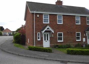 Thumbnail 3 bed end terrace house to rent in Cullcott Close, Yoxford, Suffolk