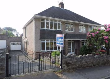 Thumbnail 3 bed semi-detached house for sale in Ffynone Drive, Swansea