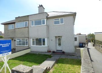 Thumbnail 3 bed semi-detached house for sale in Ffordd Feurig, Holyhead, Anglesey