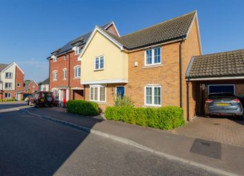 Thumbnail 4 bed link-detached house for sale in Heron Road, Costessey, Norwich