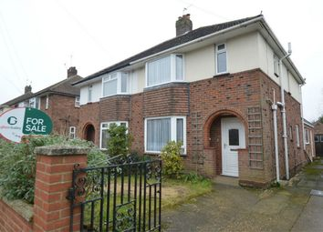 Thumbnail 3 bed semi-detached house for sale in Breckland Road, New Costessey, Norwich