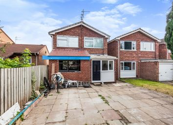 Thumbnail 3 bed detached house for sale in Leslie Close, Littleover, Derby