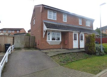 Thumbnail 3 bed semi-detached house for sale in Pinel Close, Broughton Astley, Leicester, Leicestershire