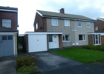 Thumbnail 2 bed semi-detached house to rent in Guyzance Avenue, North Broomhill, Northumberland