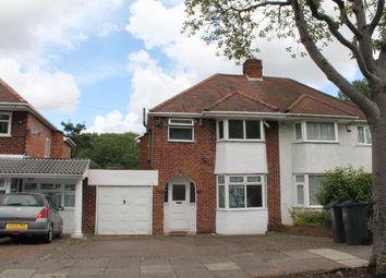 Thumbnail 3 bed semi-detached house to rent in Cherry Orchard Road, Handsworth Wood, Birmingham