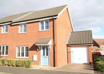 Thumbnail 3 bed semi-detached house for sale in River Way, Great Blakenham, Ipswich, Suffolk