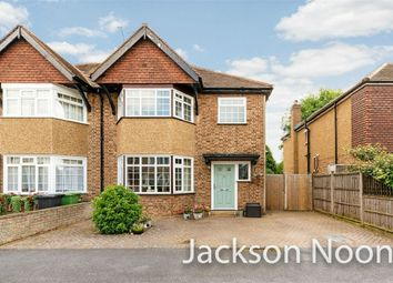 Thumbnail 3 bed semi-detached house for sale in Heatherside Road, West Ewell, Epsom