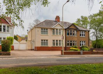 Thumbnail 4 bed semi-detached house for sale in Lake Road East, Cyncoed, Cardiff