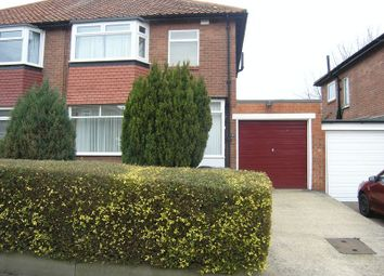 Thumbnail 3 bed semi-detached house to rent in Slingsby Gardens, High Heaton, Newcastle Upon Tyne