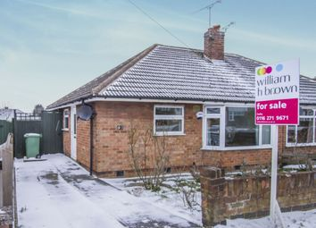 Thumbnail 2 bed semi-detached bungalow for sale in Brabazon Road, Oadby, Leicester