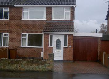 Thumbnail 3 bed semi-detached house to rent in Oakleys Road, Long Eaton, Nottingham