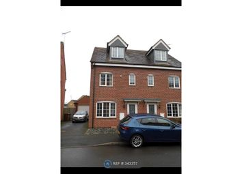 Thumbnail 3 bed semi-detached house to rent in Barker Round Way, Burton-On-Trent