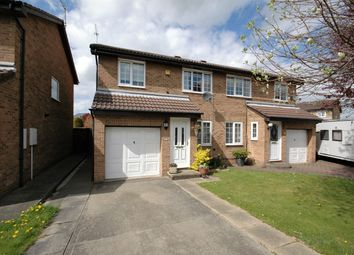 Thumbnail 3 bed semi-detached house for sale in Stanhope Close, Meadowfield, Durham