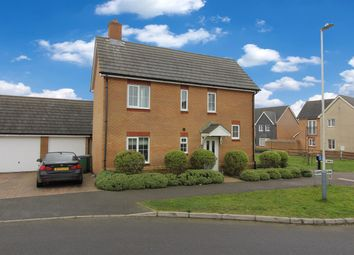 Thumbnail 3 bed detached house for sale in Campbell Road, Hawkinge, Folkestone Kent