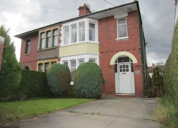 Thumbnail 3 bed semi-detached house for sale in Leon Avenue, Taffs Well, Cardiff