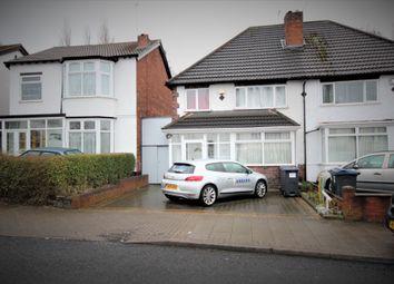 Thumbnail 3 bed semi-detached house to rent in Bernard Road, Birmingham, West Midlands