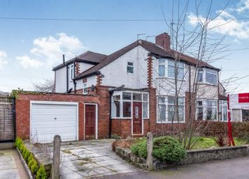 Thumbnail 3 bed semi-detached house for sale in Princess Avenue, Cheadle Hulme, Stockport, Greater Manchester