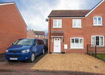 Thumbnail 3 bed semi-detached house for sale in Roundhouse Drive, Royal Wootton Bassett, Swindon