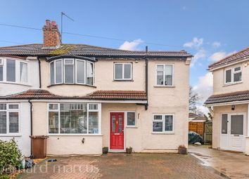 Thumbnail 5 bed semi-detached house for sale in Southville Close, West Ewell, Epsom