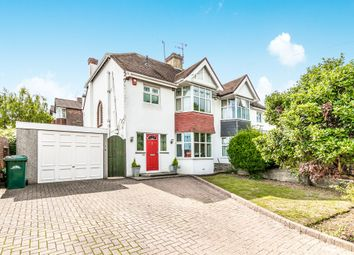Thumbnail 3 bed semi-detached house for sale in Goldstone Crescent, Hove